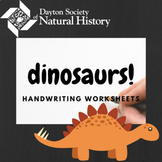 Dinosaur Names Handwriting Worksheets