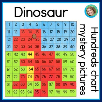 Hundreds Chart Mystery Picture 41: Dinosaur Hundreds Charts Mystery Pictures by Paula7s Preschool and ,Chart