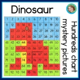 Dinosaur 100s Chart Activities   No prep worksheets