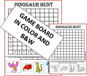 Dinosaur Hunt - Coordinate Review Game