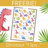 "Dinosaur ""I Spy..."", Preschool, Kindergarten Activity, Free Printable"