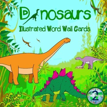 Illustrated Word Wall Cards FREEBIE: Dinosaurs