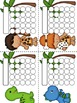 Dinosaur Sticker Incentive Charts - Full Color and Less-In