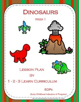 Dinosaur Infant - Preschool Lesson Plan with ECIPs