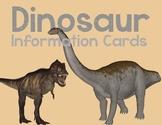 Dinosaur Information Cards