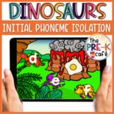 Dinosaur Initial Phoneme Isolation BOOM Cards