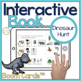 Dinosaur Interactive Book Boom Cards™️   Speech Therapy