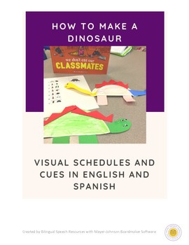 Dinosaur JAR/Craft in English and Spanish