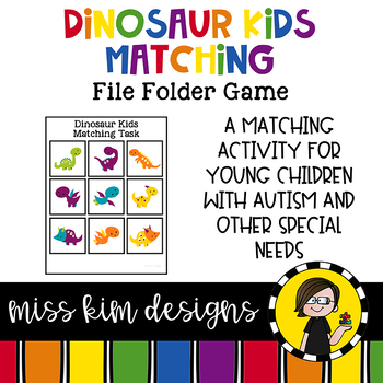 Dinosaur Kids Matching Folder Game for Early Childhood Special Education