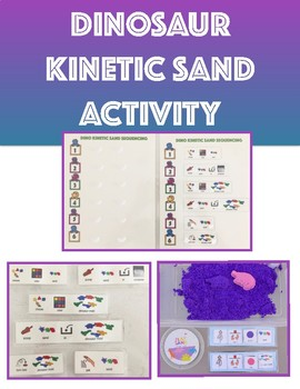 Dinosaur Kinetic Sand Companion, Speech Language Therapy (Target Dollar Spot)