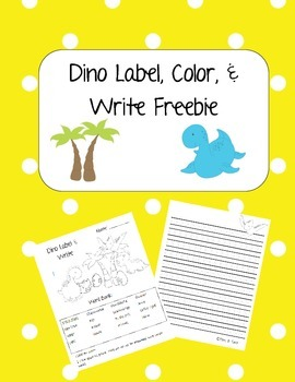 Dinosaur Label, Color, and Write