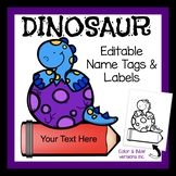 Dinosaurs: Labels Name Cards Bag Tags and More for Classro
