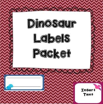 Dinosaur Labels Pack