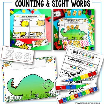 Dinosaur Printable Learning Busy Book Preschool Age 3-5 - CUSTOM