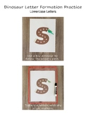 Dinosaur Letter Formation Practice (Lowercase Letters)