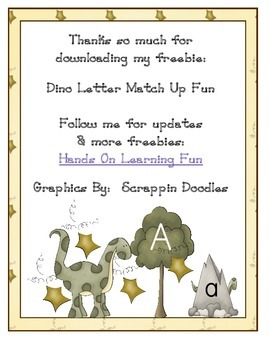 Dinosaur Letter Match Up Fun