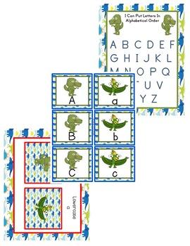 Dinosaur Letter Matching Activities