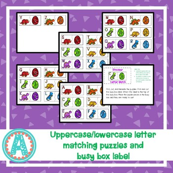Dinosaur Letter Matching Busy Box
