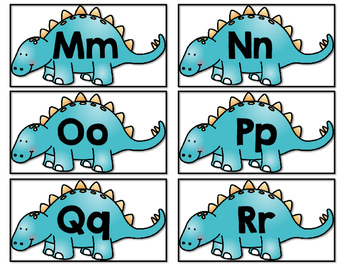 Dinosaur Letter Math and Record Upper Case and Lower Case