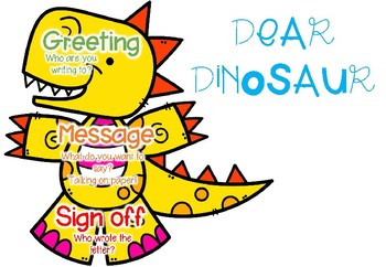 Dinosaur Letter Poster and Templates