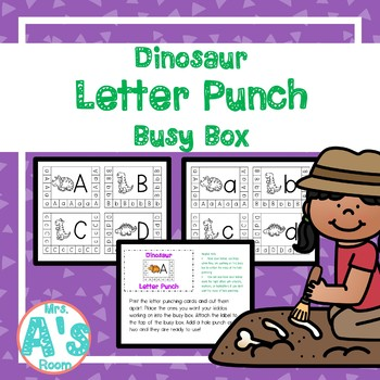 Dinosaur Letter Punch Busy Box