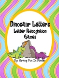 Dinosaur Letters - A Dinosaur Themed Letter Recognition Activity