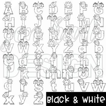 Alphabet Letters Clip Art -Dinosaur Letters {jen hart Clip Art)