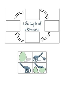 Dinosaur Life Cycle Cut & Paste Activity