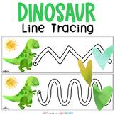Dinosaur Preschool Pre-Writing Skills Line Tracing Practice | Pencil Control
