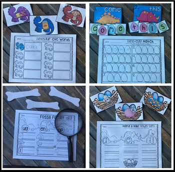 Dinosaur Math and Literacy Centers {CCSS}