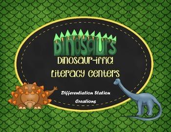 Dinosaur Literacy Centers: Bossy R, Real and Nonsense Words, Sentence Scramble