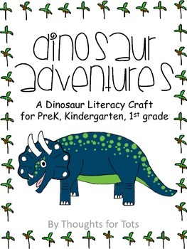 Dinosaur Literacy Craft FREEBIE for PreK and Kindergarten