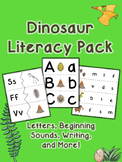 Dinosaur Literacy Pack - Letters, Beginning Sounds, Writing, and More!