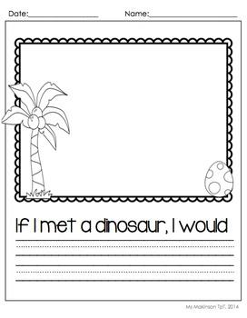Dinosaur Literacy and Math Activities