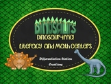 Dinosaur Literacy and Math Center Bundle