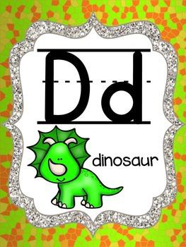 Dinosaur - Lizard Scaly Alphabet Posters