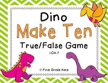 Dinosaur Make Ten FREEBIE