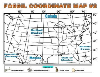 Dinosaur Map (Coordinates / Latitude / Longitude)