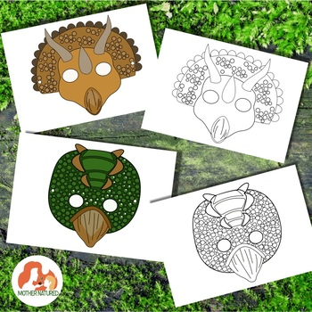 Dinosaur Masks for Prehistoric Play