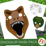 Dinosaur Masks for Prehistoric Play