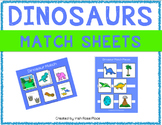 Dinosaur Match Sheets