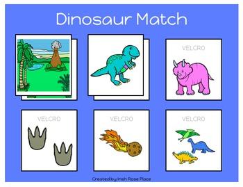 Dinosaur Match Sheets