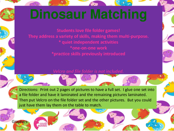 Dinosaur Matching