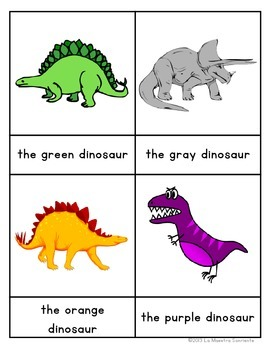 Early Reader Matching Cards: Dinosaurs (Spanish and English)