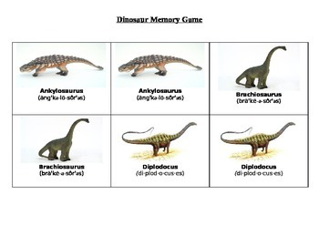 photograph regarding Dinosaur Matching Game Printable named Dinosaur Matching Video game Worksheets Academics Pay back Instructors