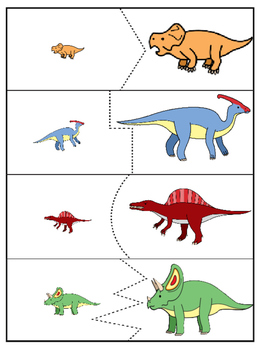 dinosaur matching puzzle game for toddlers and preschoolers by stephanie reyna. Black Bedroom Furniture Sets. Home Design Ideas