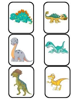 Dinosaur Matching Memory Game