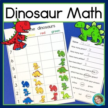 Dinosaur Math Graphing Sorting And Venn Diagram Math Centers Tpt