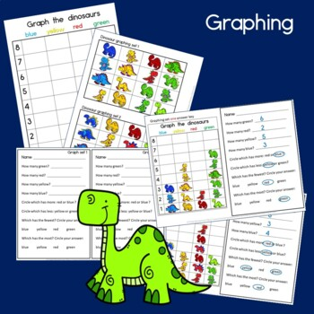 Dinosaur Math: Graphing, Sorting and Venn Diagram Math Centers