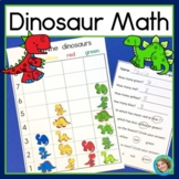 Dinosaur Math Graphing, Sorting and Venn Diagram Centers